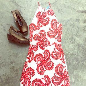Antonio Melani Coral Printed Dress
